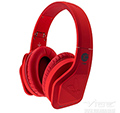 OVER STEREO HEADPHONES RED